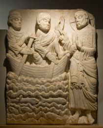 Relief of the Appearance of Jesus to Peter and Andrew from Sant Pere de Rodes. Museu Marès de Barcelona (© Laura Bartolomé).